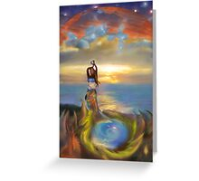 At One Within And Between Worlds  Greeting Card