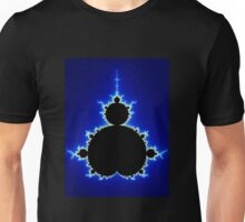 Mandelbrot Set - Blue Unisex T-Shirt