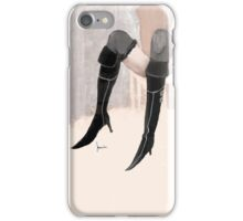 lady with shoes iPhone Case/Skin