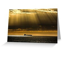 Shafts of Yellow Rays Greeting Card