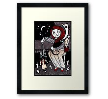 Ghost Cat Framed Print