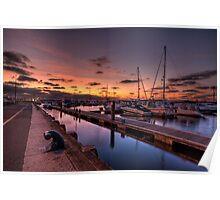 Poole - Dorset - Sunrise Poster
