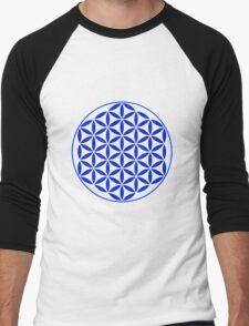 Flower of Life - Blue Men's Baseball ¾ T-Shirt