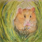 Nestled Hamster by Laura Moore