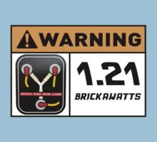 1.21 BRICKAWATTS Flux Capacitor edition Kids Clothes