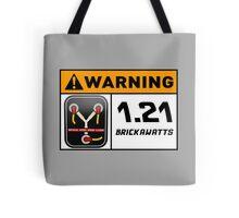 1.21 BRICKAWATTS Flux Capacitor edition Tote Bag