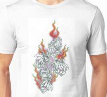 Flaming Bird Skulls Unisex T-Shirt
