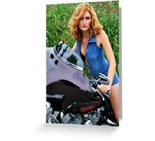 Denim Jumpsuit Greeting Card