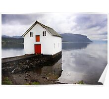 A Bright Little Boat House Poster