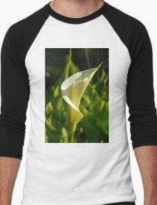 Calla Lilly Men's Baseball ¾ T-Shirt