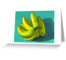 I'm a fan o' the banana Greeting Card