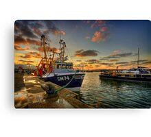 Fishing - Boat Canvas Print