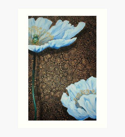 White Poppies II Art Print