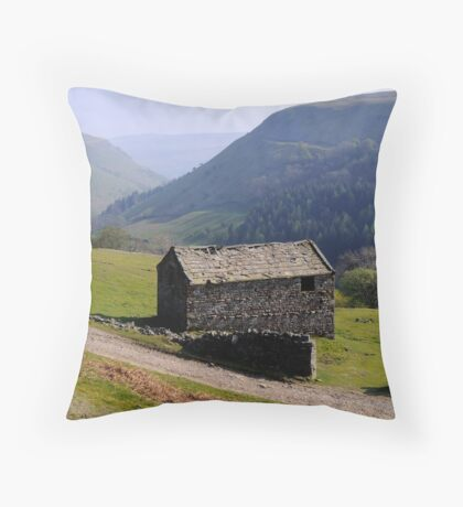 Old Barn, Swaledale - The Yorkshire Dales Throw Pillow