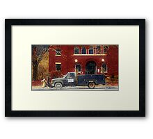 Heading Out to Plow Framed Print
