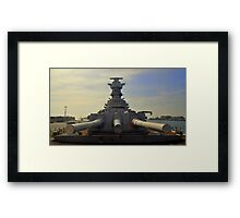 Battleship Diplomacy.... Framed Print