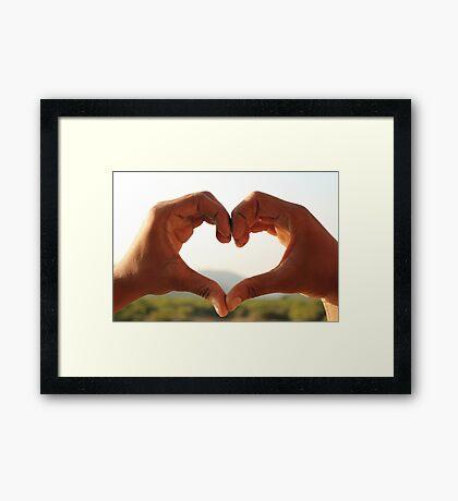 heart -love Framed Print