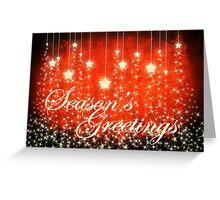 Season's Greetings Christmas Card Greeting Card