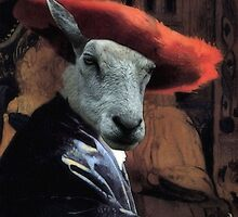 Ewe With Red Hat by SuddenJim