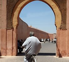 Man on bike Marrakech by PaulineC