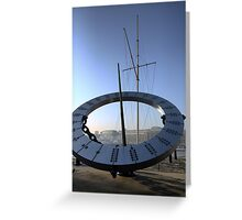 Telling the Time in London Greeting Card