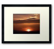 Inch Island November Sunset 1 Framed Print