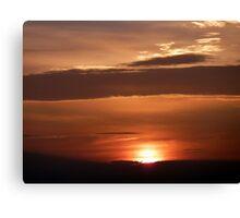 Inch Island November Sunset 1 Canvas Print