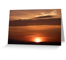 Inch Island November Sunset 1 Greeting Card