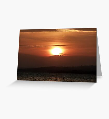 Inch Island November Sunset 2 Greeting Card