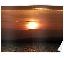 Inch Island November Sunset 2 Poster