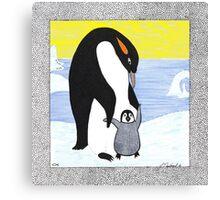 Penguin Babys First Steps Canvas Print