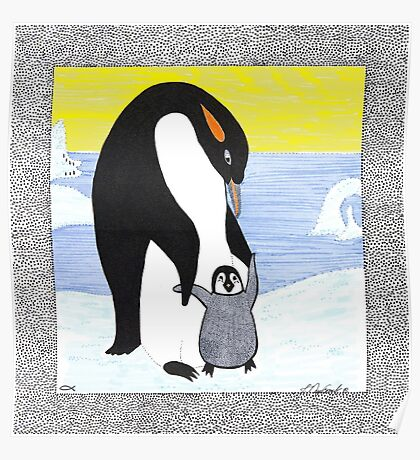 Penguin Babys First Steps Poster
