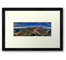 Mountains and a Lake Framed Print