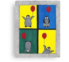 Penguin Fun Canvas Print