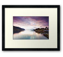 Nordic sunset Framed Print