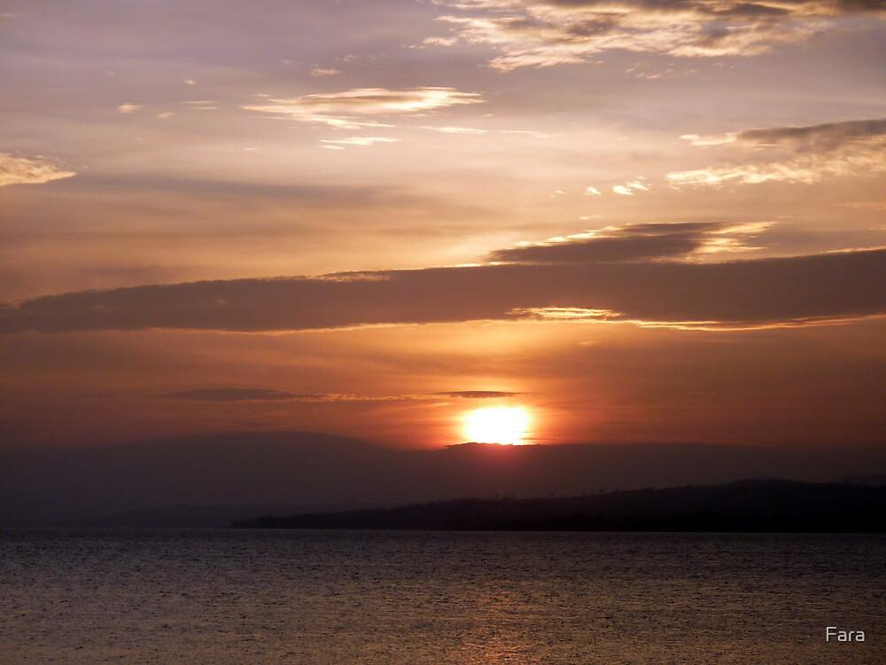 Inch Island November Sunset 3 by Fara