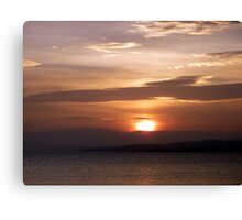 Inch Island November Sunset 3 Canvas Print