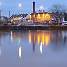Bristol Harbour at Night by ruleamon