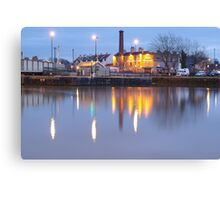 Bristol Harbour at Night Canvas Print