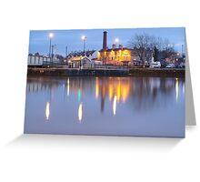 Bristol Harbour at Night Greeting Card
