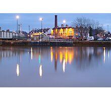 Bristol Harbour at Night Photographic Print