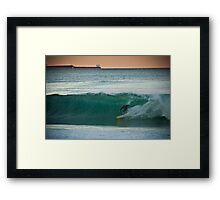 Kelly Slater on a Tyler Warren Framed Print