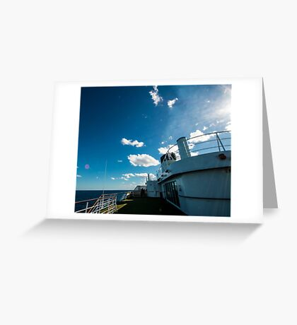 Ships funnel Greeting Card