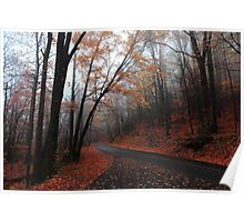 foggy fall drive Poster