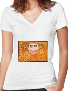 Creeper Women's Fitted V-Neck T-Shirt
