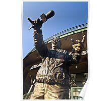 Harry Cary Sculpture by the bleachers entrance of Wrigley Field Poster