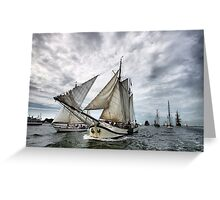 Maritime Calendar March Greeting Card