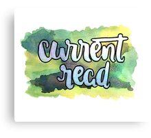 Current Read Canvas Print