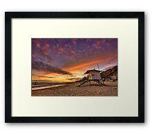 LifeGuard - Sunset Framed Print