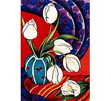 Tulips with Silk Scarf Photographic Print